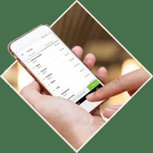Você transfere o valor das suas vendas pelo site ou no aplicativo PagBank