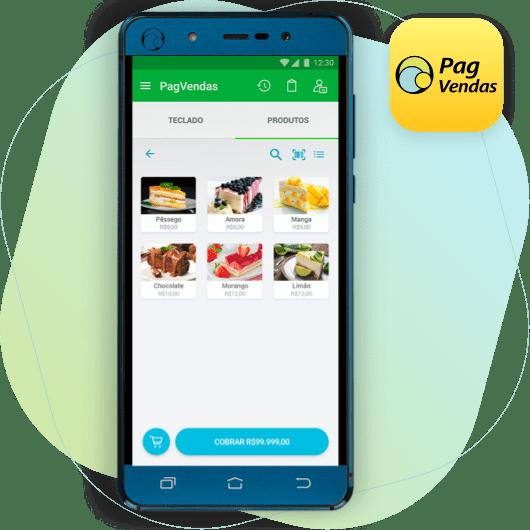 Imagem do PagPhone com o aplicativo PagVendas