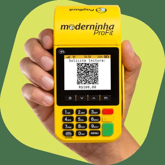 Tela da Moderinha Profit com um código QR Code